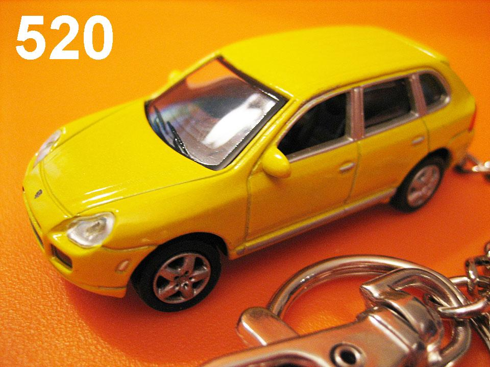 Porsche Cayenne Turbo (Metallic Yellow) Die-cast Key Chain