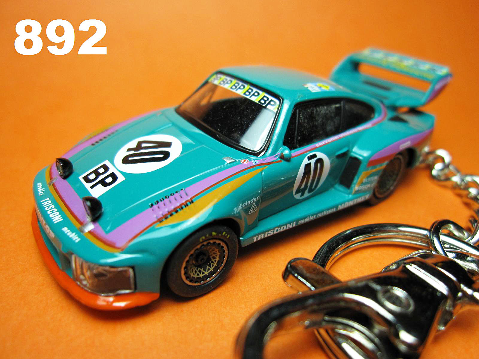 Porsche 935 Turbo LeMans 1979 #40 (Green) Die-cast Key Chain