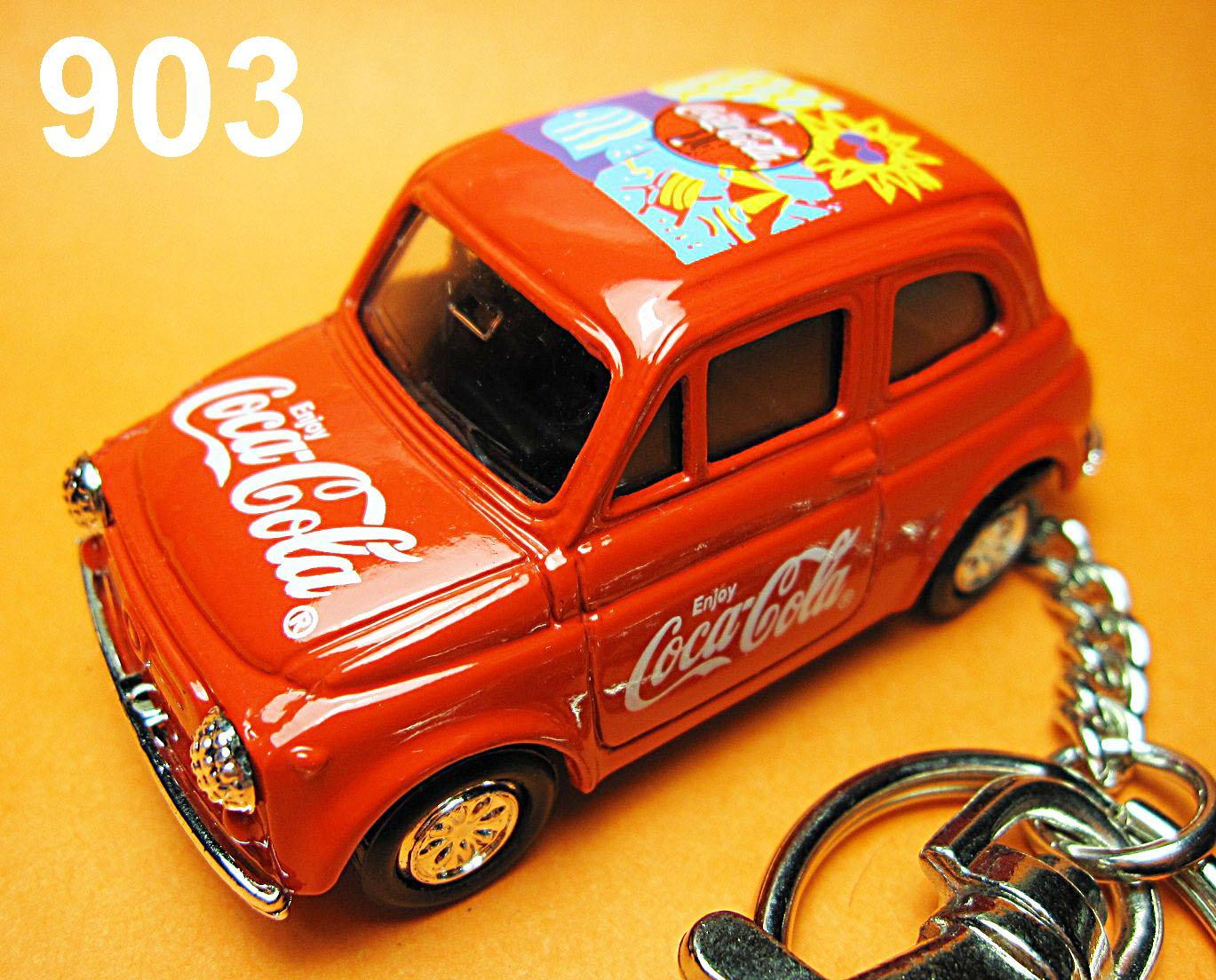 Classic Fiat 500 F (Red) Die-cast Key Chain