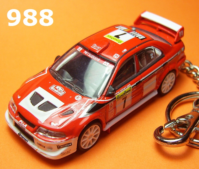 Mitsubishi Lancer Evolution 6.5 '01 WRC (Red) Die-cast Key Chain