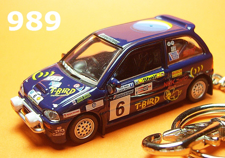 Subaru Vivio '93 Safari Rally #6 (Deep Blue) Die-cast Key Chain