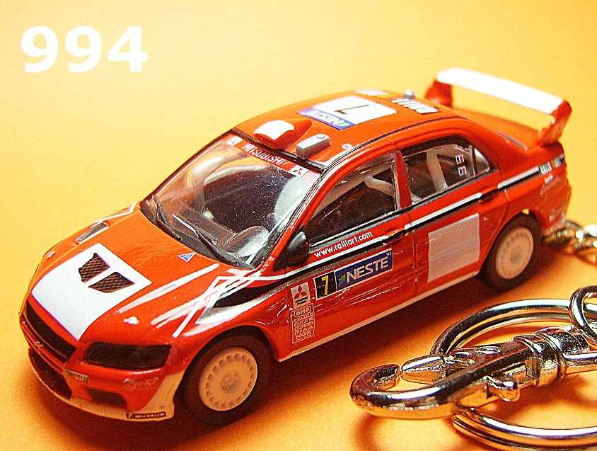Mitsubishi Lancer Evolution VII '02 WRC (Red) Die-cast Key Chain