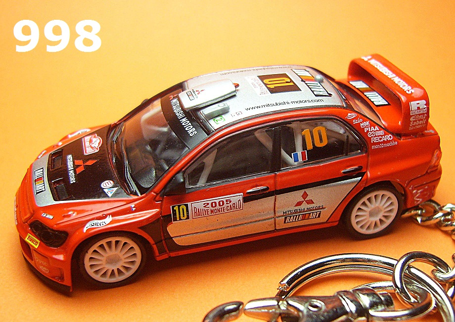 Mitsubishi Lancer Evolution WRC '05 WRC (Red) Die-cast Key Chain