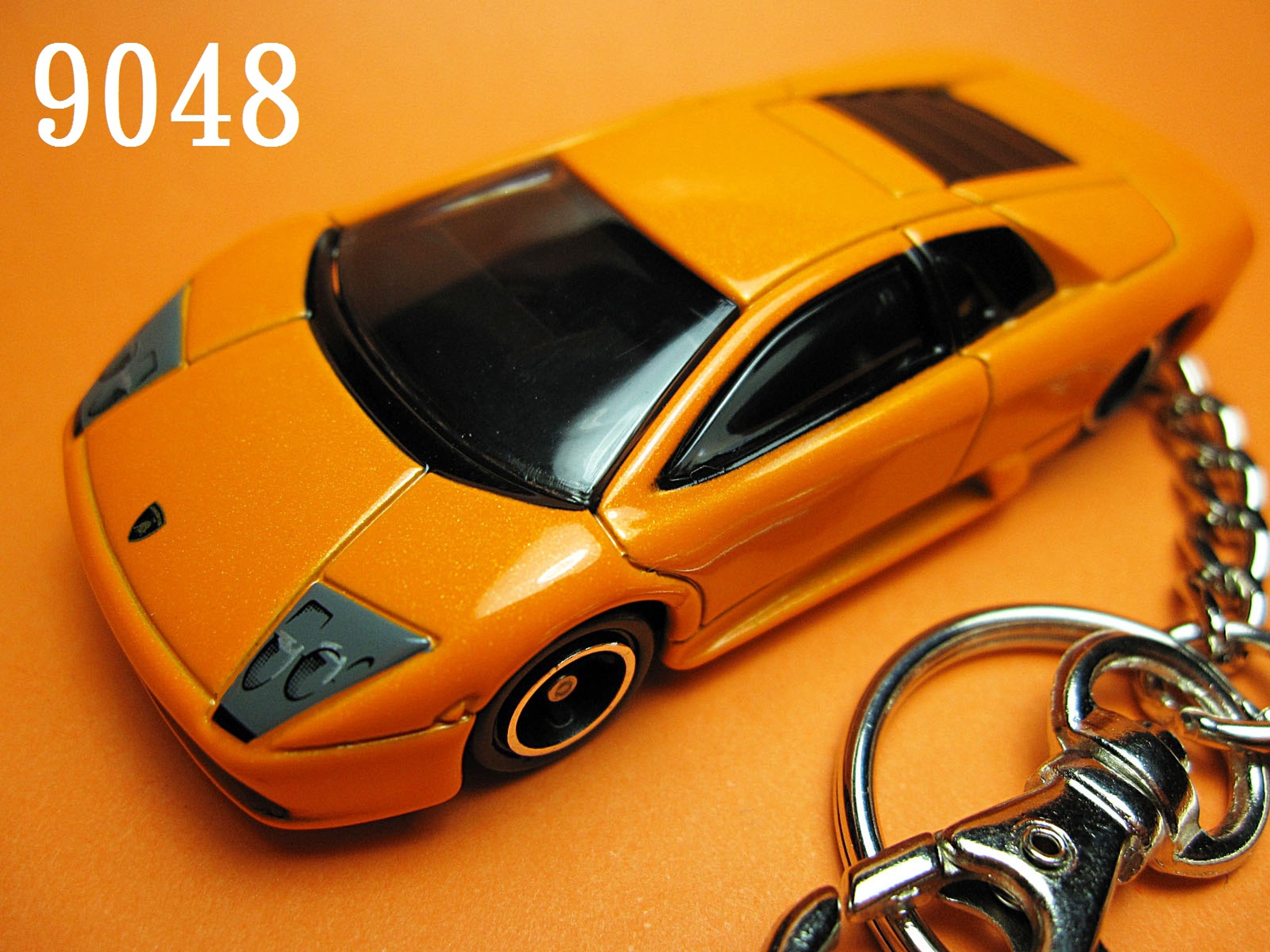 Lamborghini Murcielago (Orange) Die-cast Key Chain