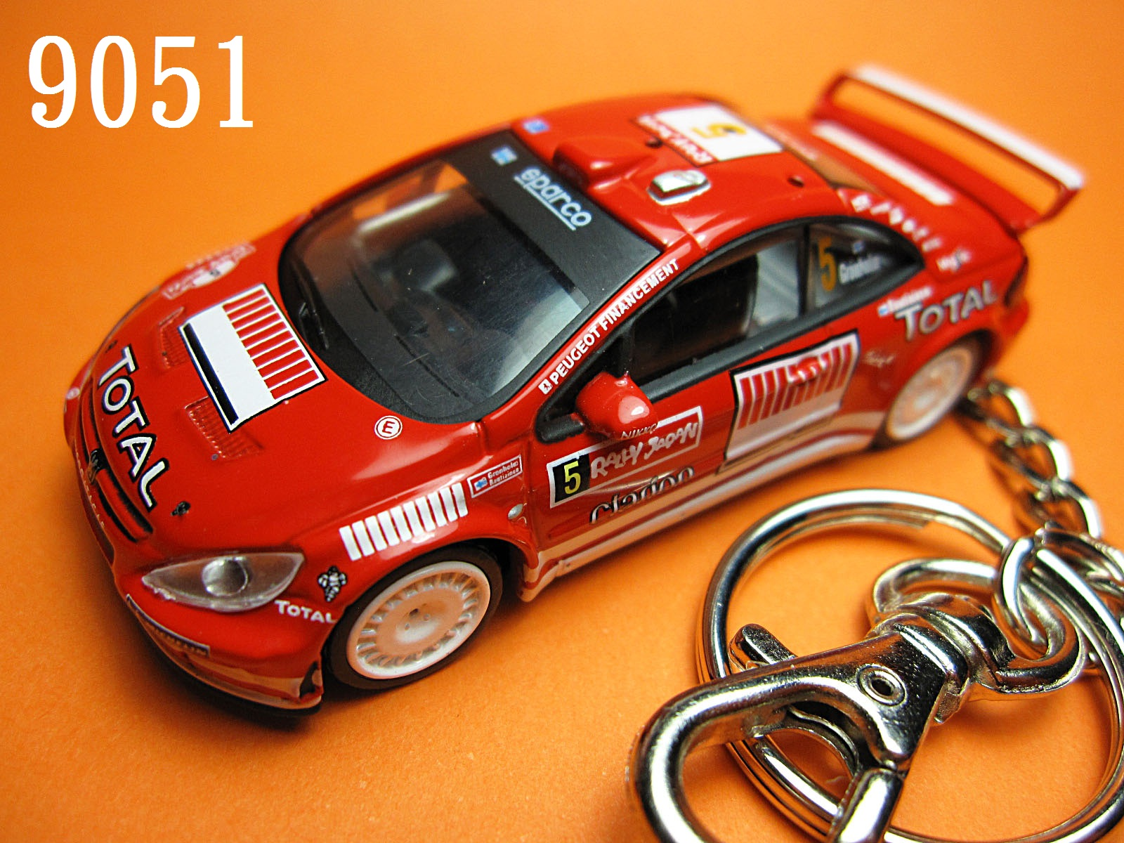 Peugeot 307 WRC Rally Japan #5 (Red) Die-cast Key Chain