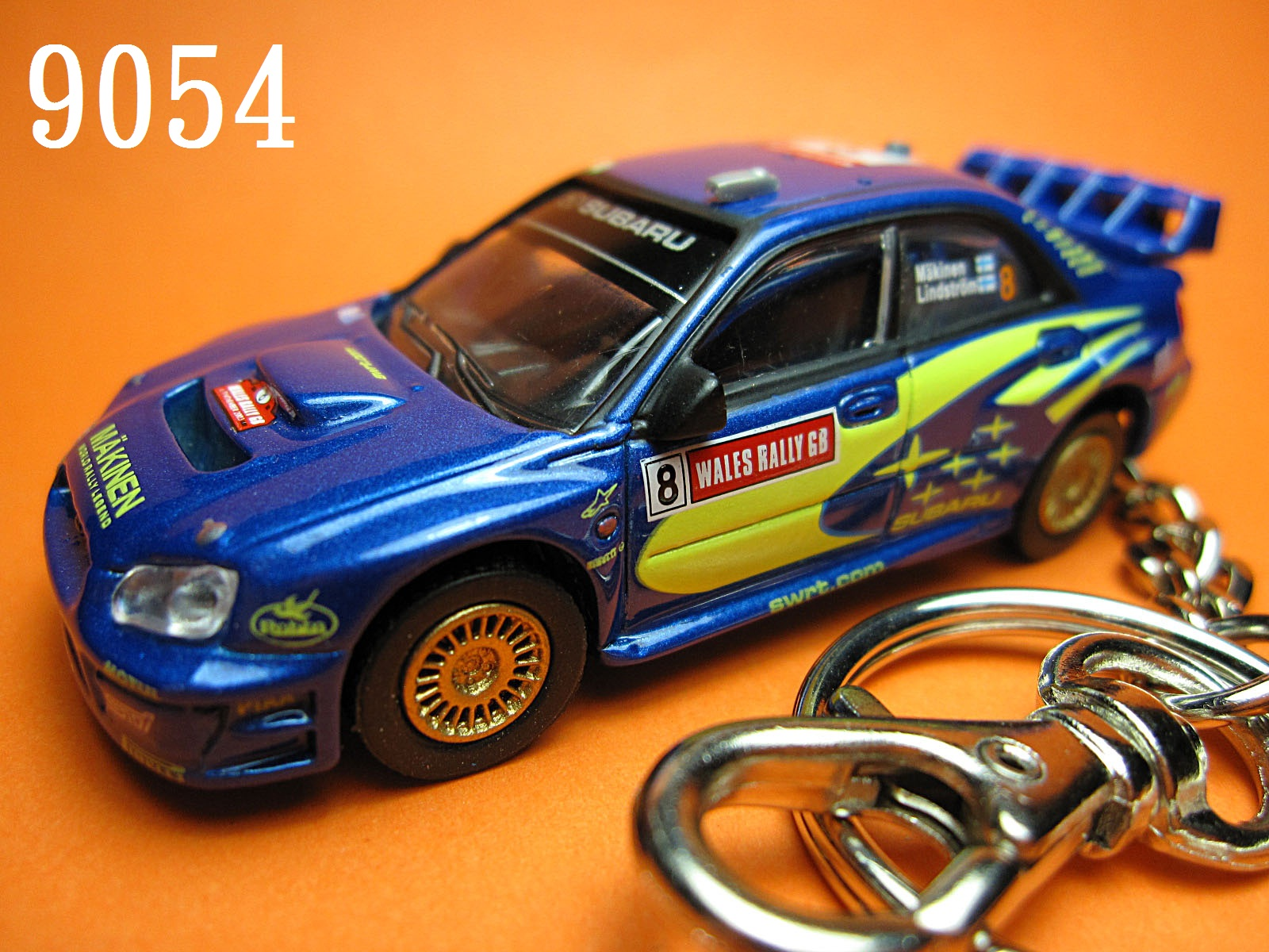 Subaru Impreza GDB WRC'03 GB Makinen#8 (Blue) Die-cast Key Chain