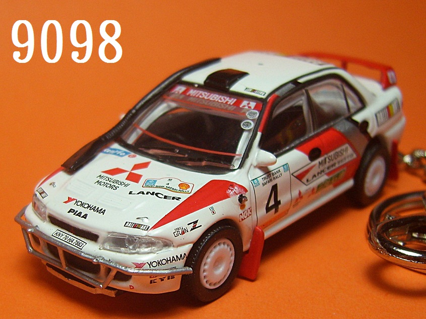 Mitsubishi Lancer Evolution 94 Safari (White) Die-cast Key Chain
