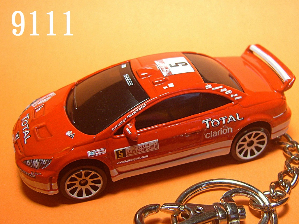 Peugeot 307 WRC 2004 Rallye MC #5 (Red) Die-cast Key Chain