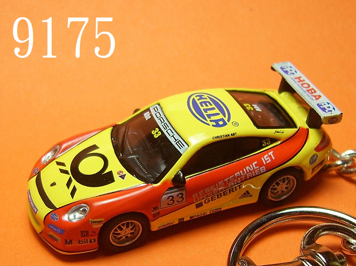Porsche 911 (997) GT3 Cup RS (Yellow x Red) Die-cast Key Chain