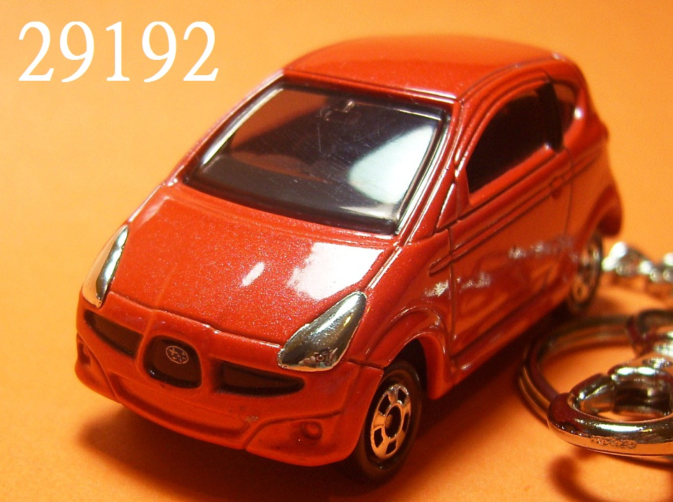 Subaru R1 3dr hatchback (Reddish Orange) Die-cast Key Chain