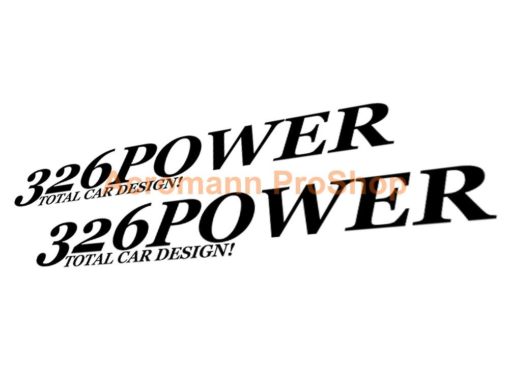 326 POWER 6inch Decal (Style#1) x 2 pcs