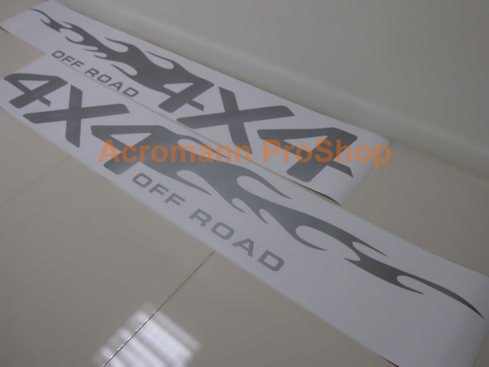 4x4 Off Road Large Side Door Decal (Style#2) x 1pair (LHS & RHS)