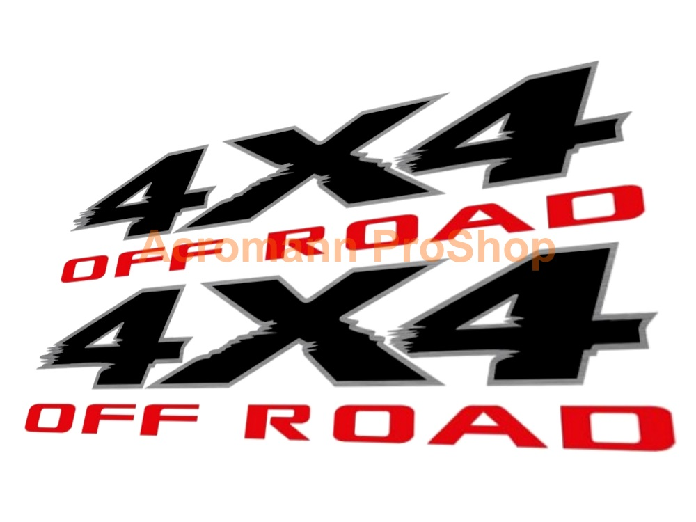 4x4 OFF ROAD 6inch Decal (Style#2) x 2 pcs