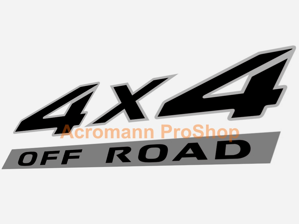 4x4 OFF ROAD 6inch Decal (Style#3) x 2 pcs