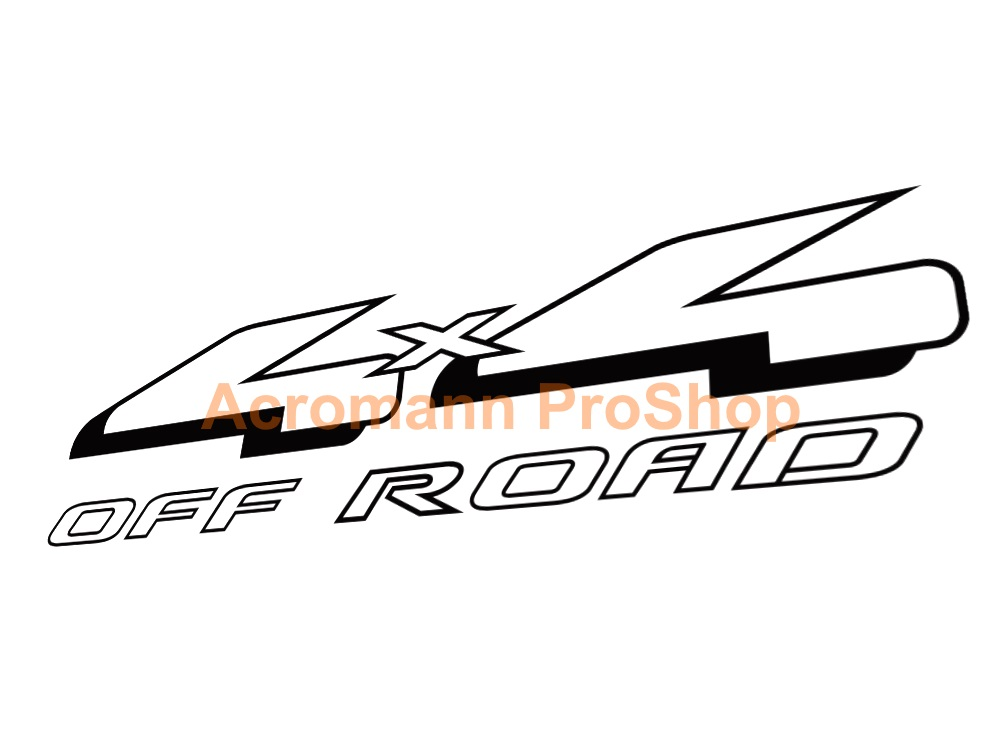 4x4 OFF ROAD 6inch Decal (Style#1) x 2 pcs
