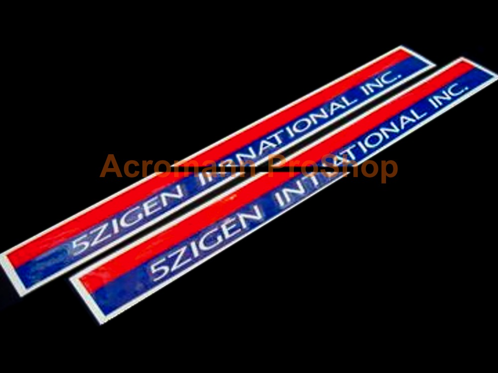 5 Zigen Int'l Inc. 6inch decal x 2 pcs