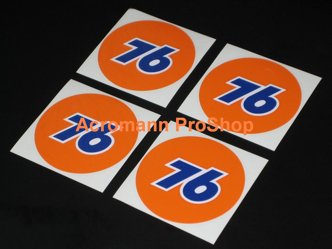 76 Oil Gasoline 2.2inch Wheel Cap Decal x 4 pcs