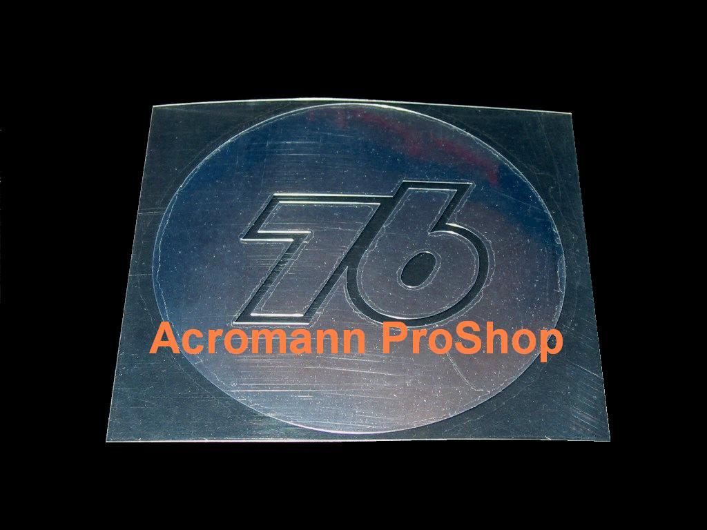 76 Oil Gasoline 3inch Decal (Style#2) x 2 pcs
