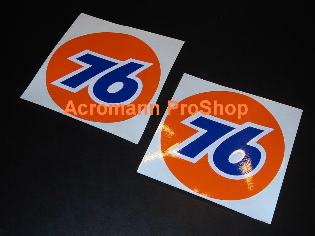 76 Oil Gasoline 3inch Decal (Style#1) x 2 pcs