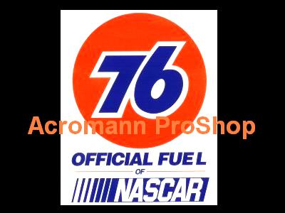 76 Oil Official Fuel of Nascar 6inch Decal x 2 pcs