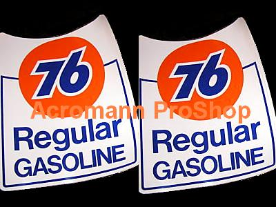 76 Oil Regular Gasoline 6inch Decal x 2 pcs