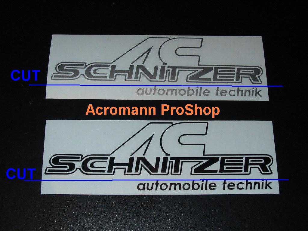 AC Schnitzer 6inch Decal (Style#1) x 2 pcs