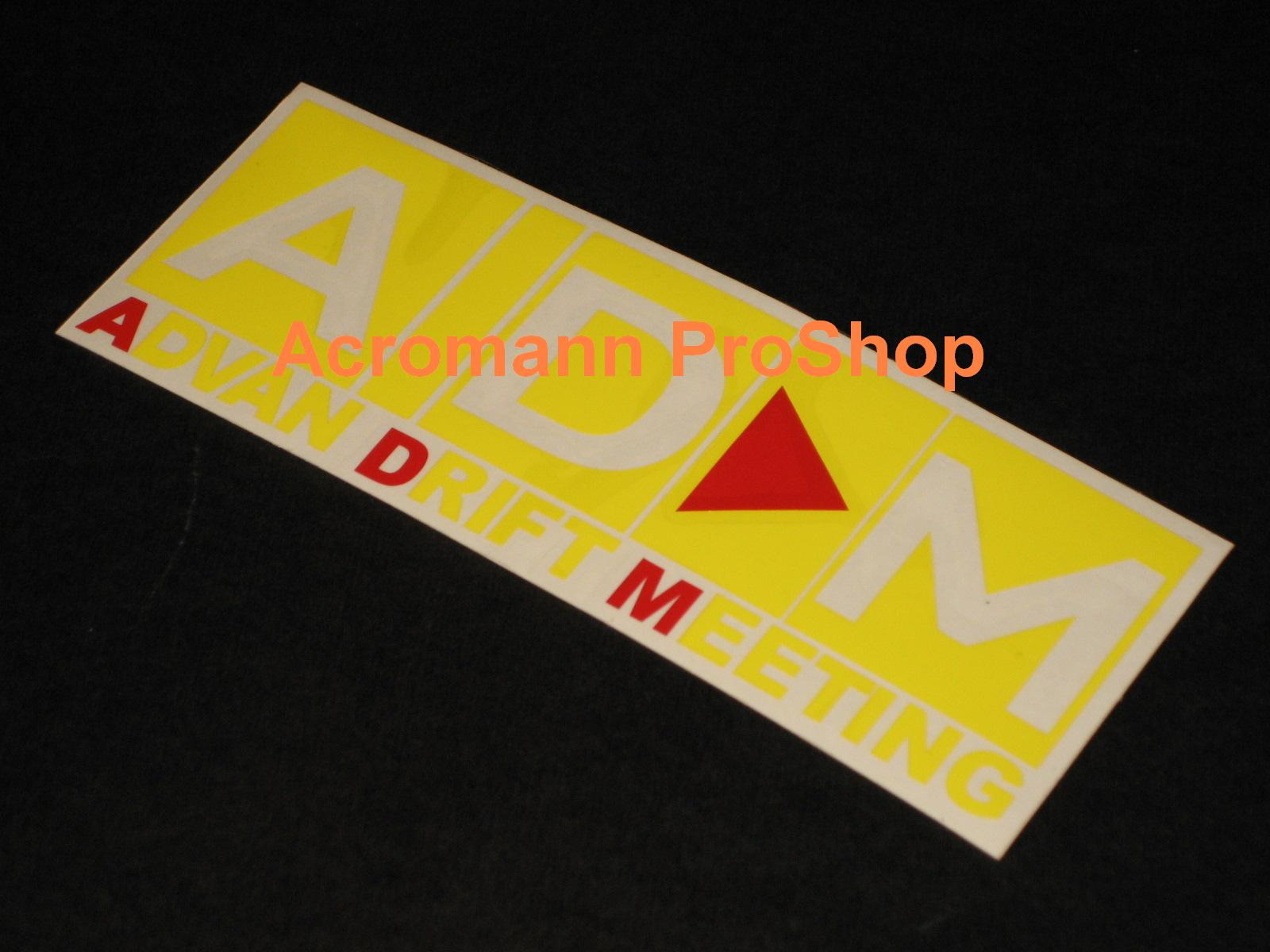 ADM ADVAN Drift Meeting D1 6inch Decal x 2 pcs