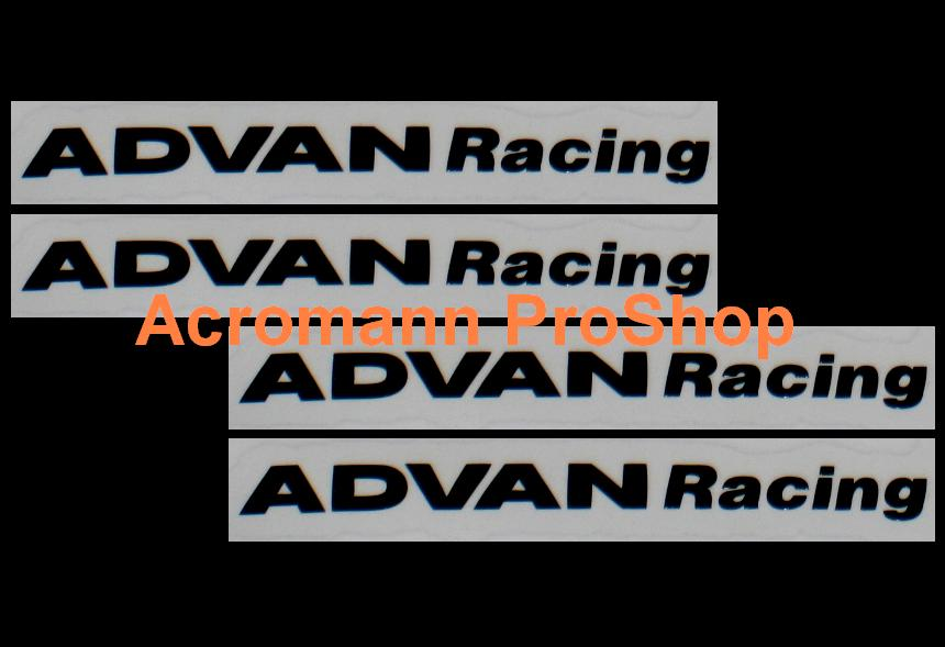 ADVAN Racing 4inch Alloy Wheel Decal x 4 pcs