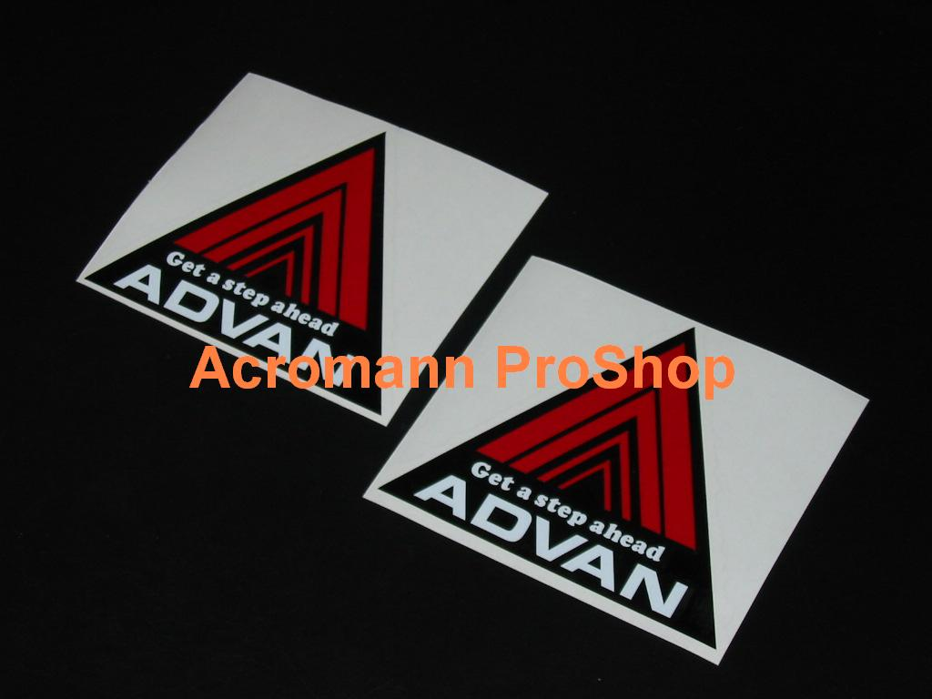 "Advan Get a step ahead Non Reflective Sticker 4x4.75/"" Red"