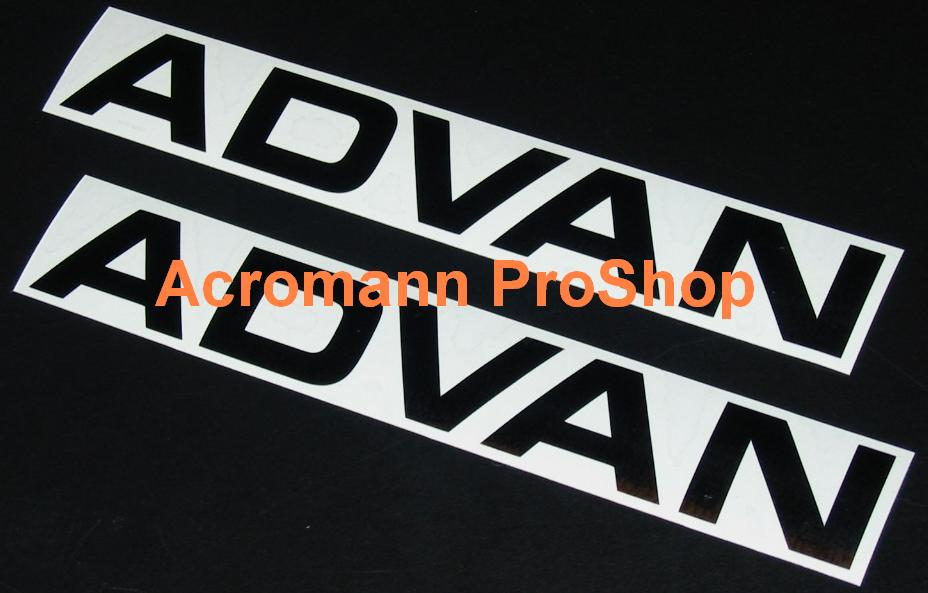 ADVAN 6inch Decal (Style#6) x 2 pcs