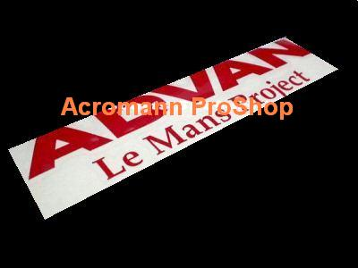 ADVAN Le Mans Project 6inch Decal x 2 pcs