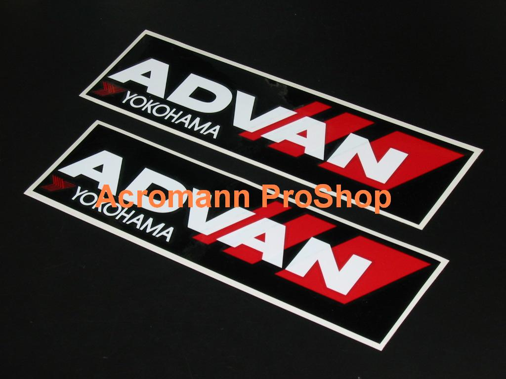 ADVAN Yokohama 8.5inch Decal x 2 pcs