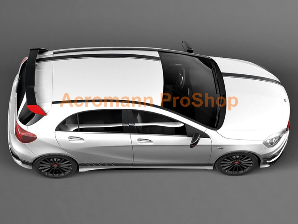 AMG W176 C117 A45 Edition 1 Hood Roof Top Racing Stripes Decals