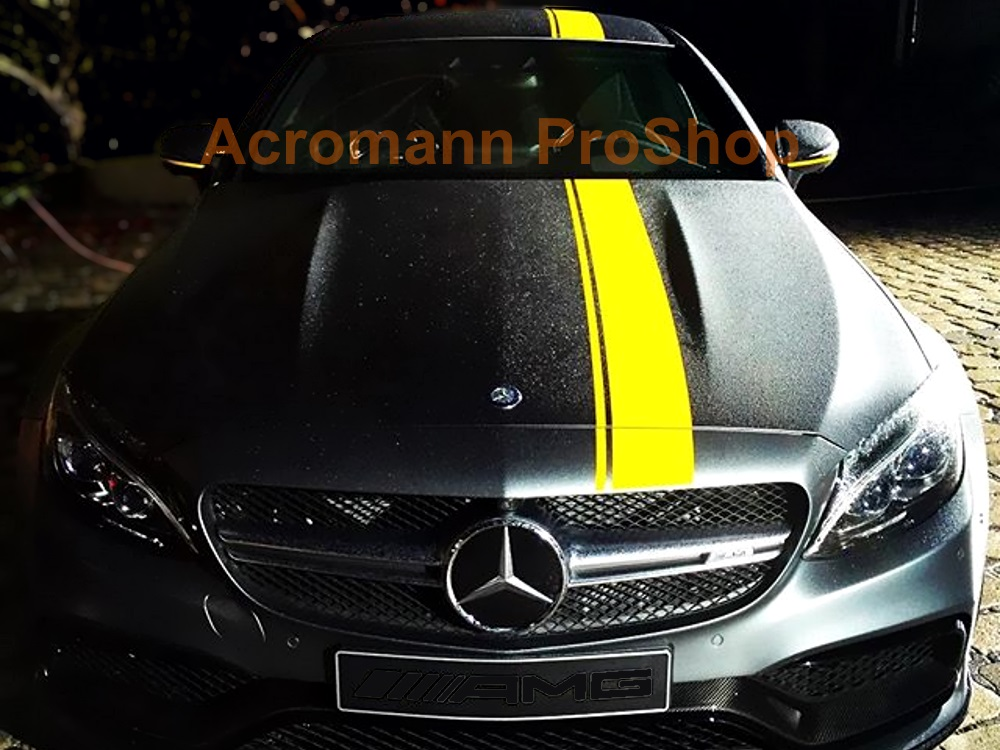 AMG C205 C63s Coupe Edition1 Hood Roof Top Racing Stripes Decals