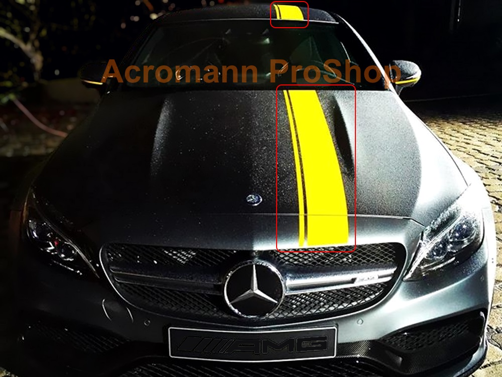 AMG Sports C63s Style Whole Body Stripes x 1 set (middle)