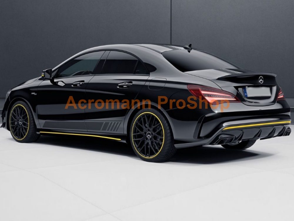 AMG C117 CLA45 Yellow Night Side Stripes Door Decals Sticker