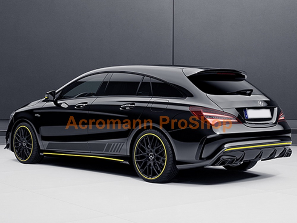 AMG X117 CLA45 Yellow Night Side Stripes Door Decals Sticker
