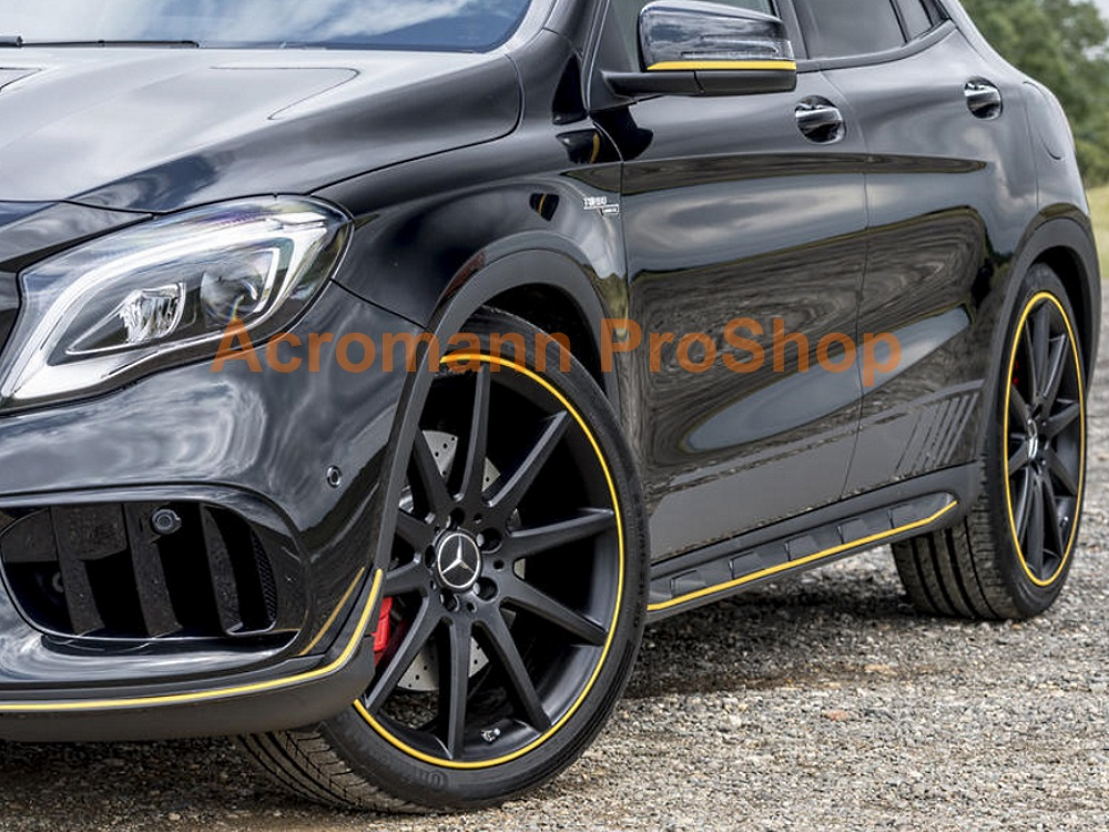 AMG X156 GLA45 Yellow Night Side Stripes Door Decals Sticker