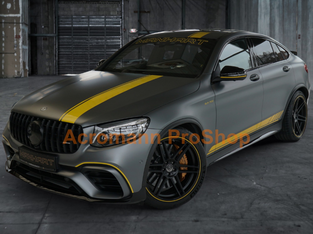 AMG X253 C253 GLC63s Edition1 Hood Roof Top Racing Stripes Decal