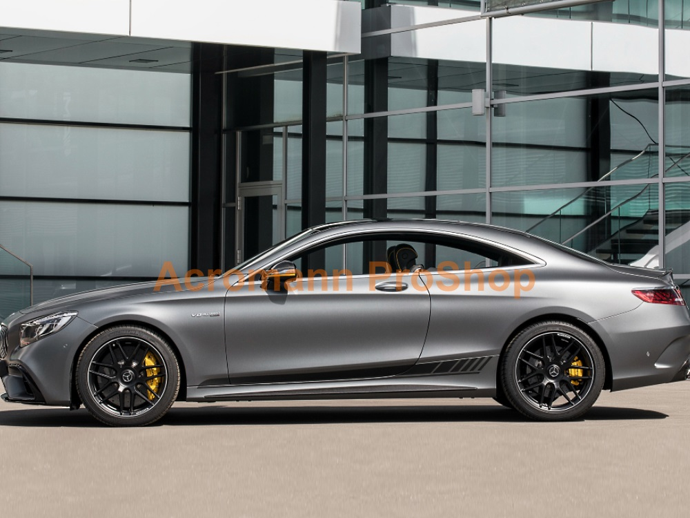 AMG C217 S63 Coupe Yellow Night Side Stripes Door Decals Sticker