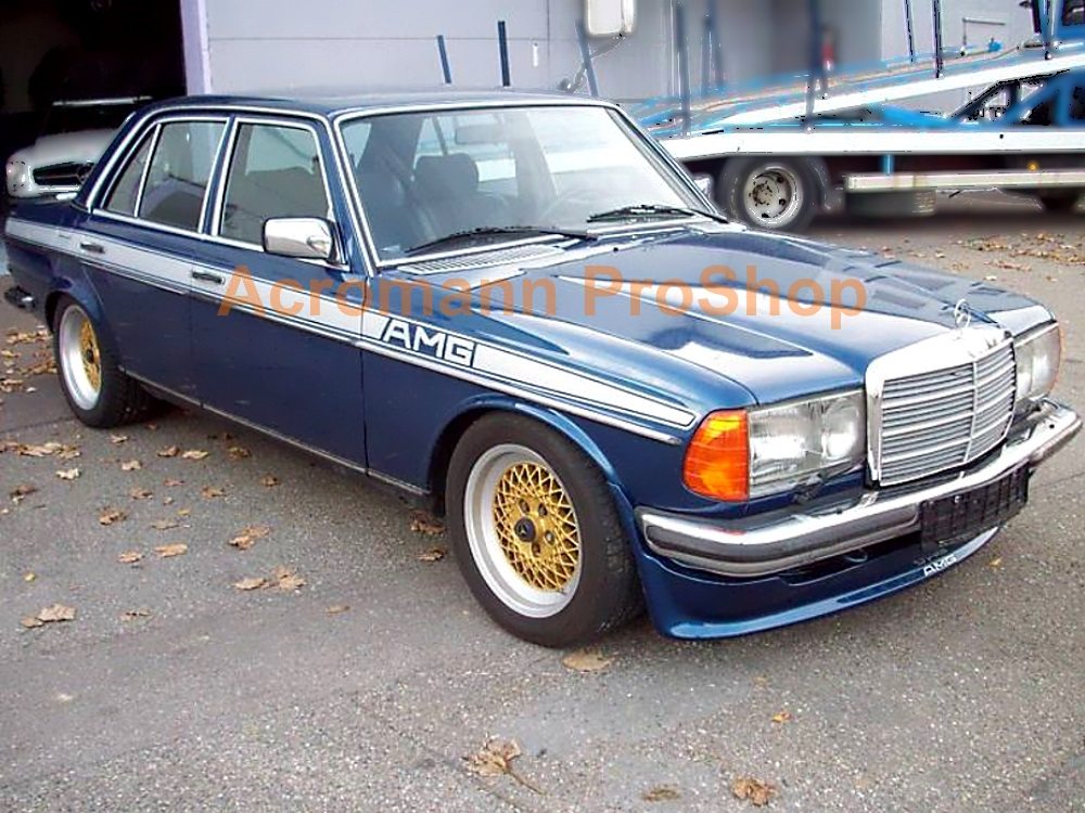 AMG Classic W123 Side Stripe Decal (Style#2) x 1pair (LHS & RHS)