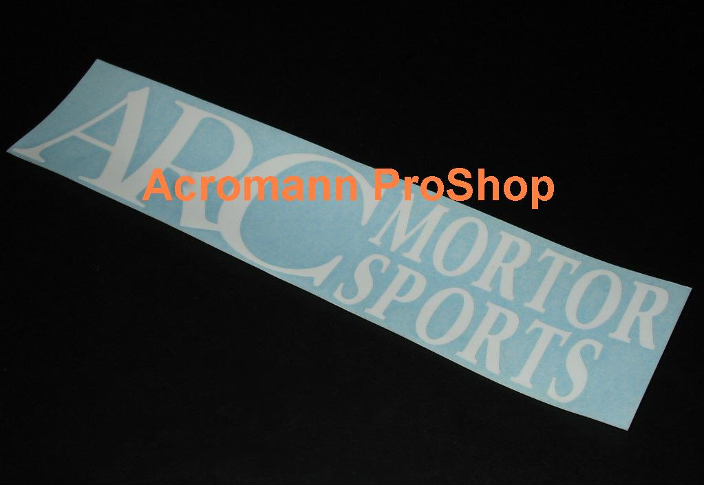 ARC Motor Sports 6inch Decal x 2 pcs