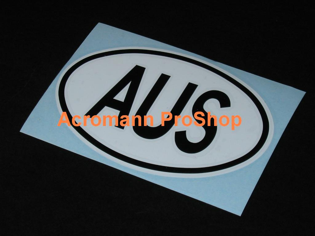 "Australia Oval ""AUS"" 5.25inch decal x 1 pc"