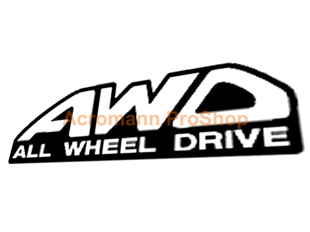 AWD 6inch Decal (Style#1) x 2 pcs