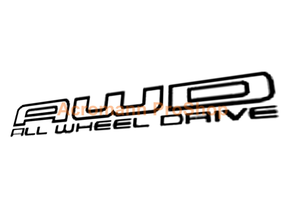 AWD 6inch Decal (Style#2) x 2 pcs