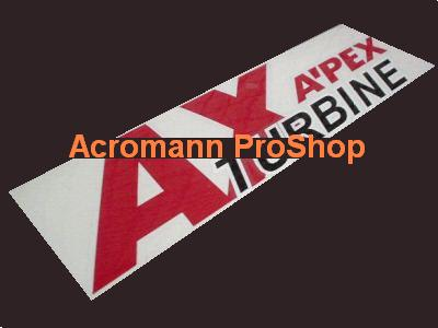 AX Turbine (Apexi) 6inch Decal x 2 pcs