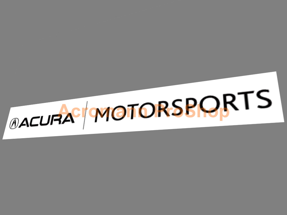 A cura Motorsports Windshield Hood Bumper Decal Sticker