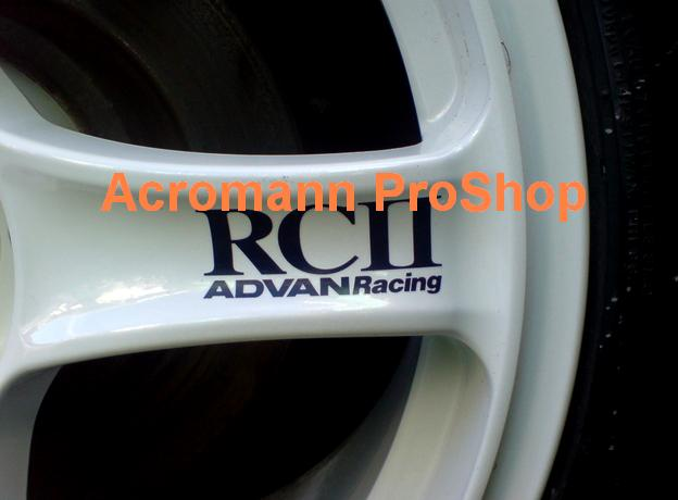 ADVAN Racing RCII 3inch Alloy Wheel Decal x 4 pcs