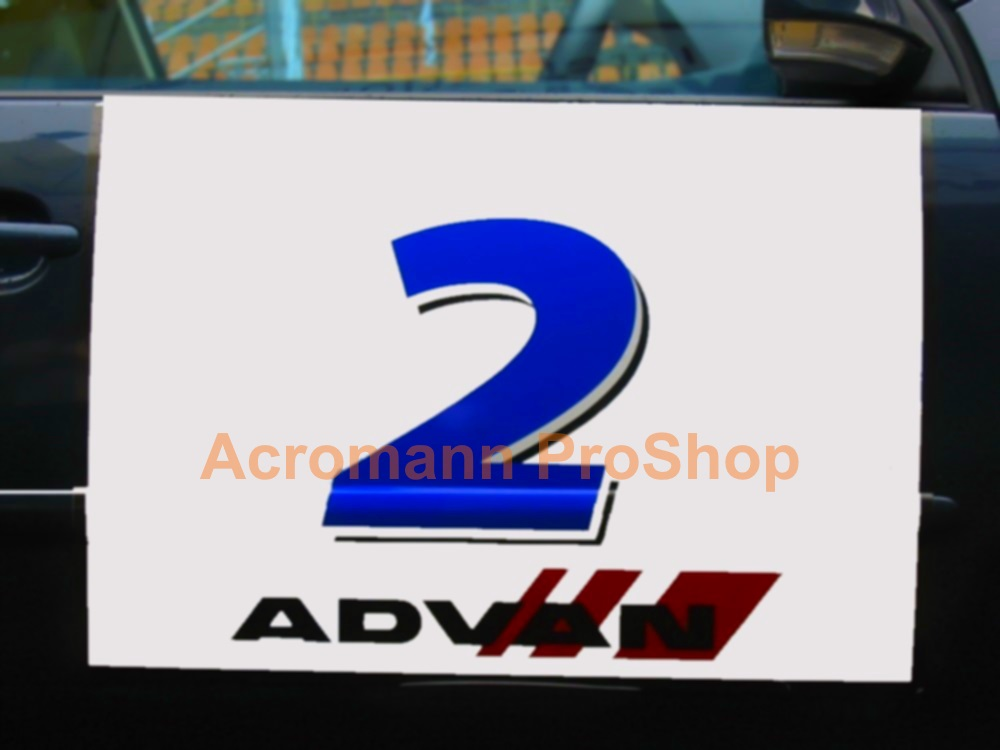 ADVAN Number Plate Decal x 2pcs