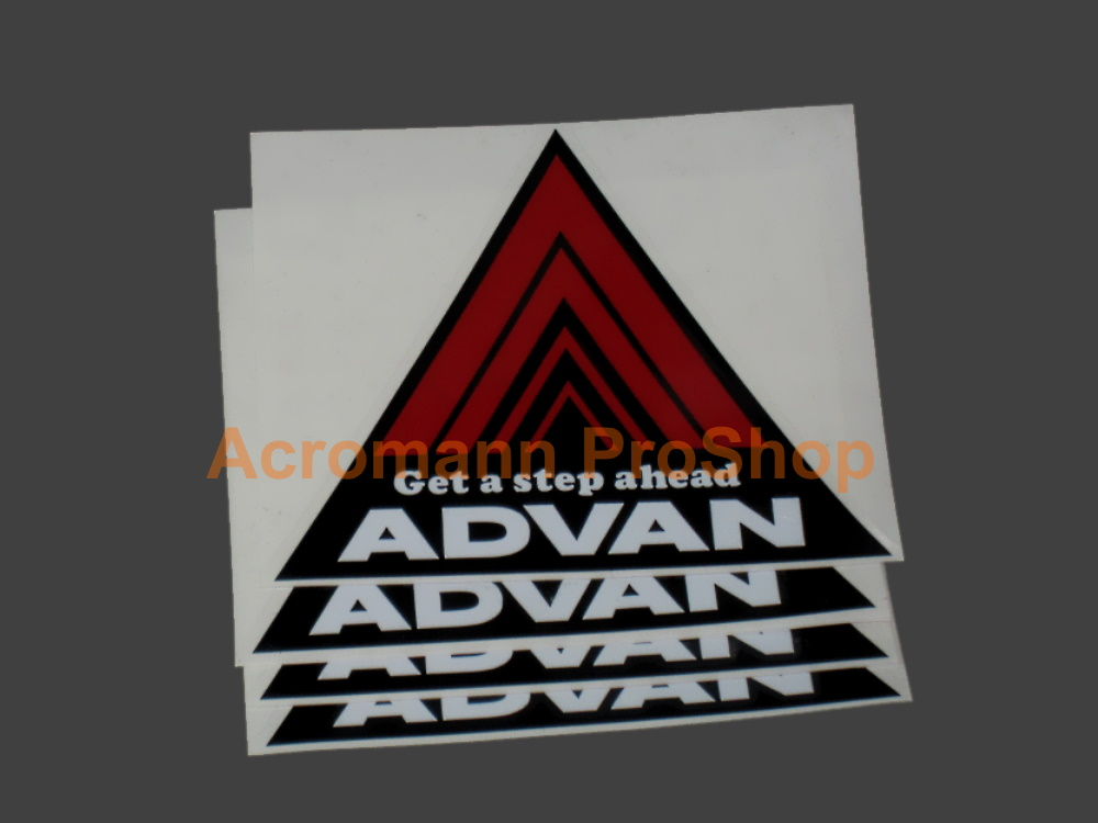 ADVAN Triangle Logo 2inch Fender Decal Sticker x 4 pcs